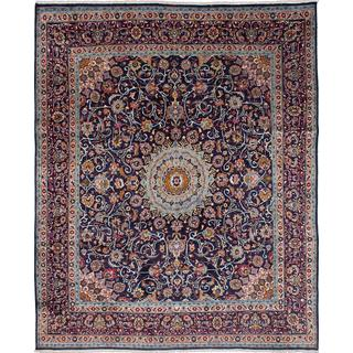 ecarpetgallery Hand-knotted Persian Kashmar Blue Wool Area Rug (9'10 x 12'1)