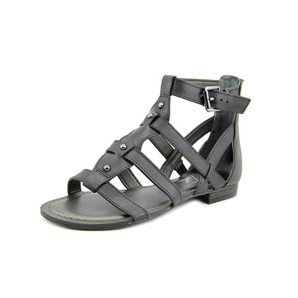 Marc Fisher Women's 'Brandi' Black Leather Sandals