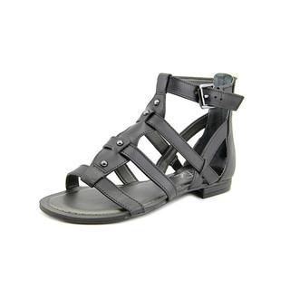 Marc Fisher Women's 'Brandi' Black Leather Sandals