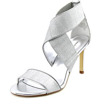 Marc Fisher Women's 'Brooke' Silver Synthetic Sandals