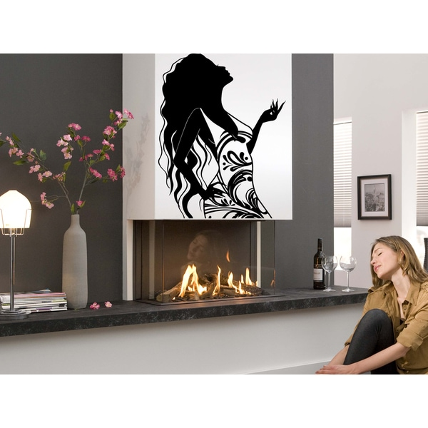 The girl a riddle Wall Art Sticker Decal