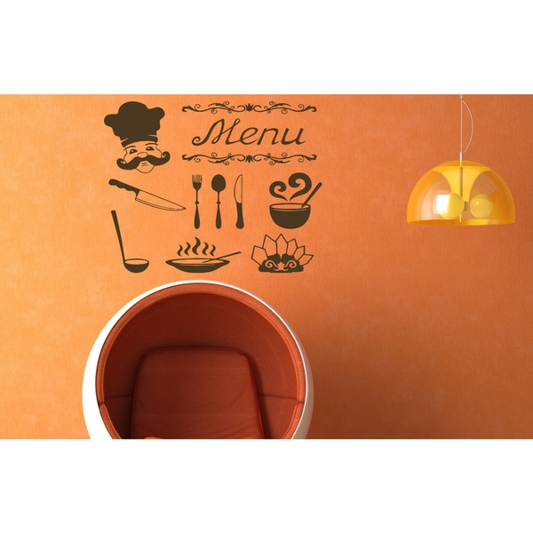 Cafe bar coffee Tea cup menu Wall Art Sticker Decal Brown 18220355