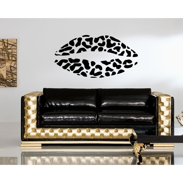 Leopard lips Wall Art Sticker Decal