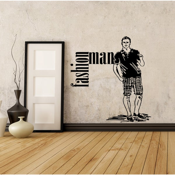 Beautiful model man Wall Art Sticker Decal