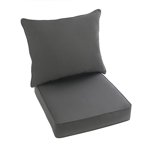 Sunbrella Charcoal Gray 2 piece Cushion and Pillow Indoor