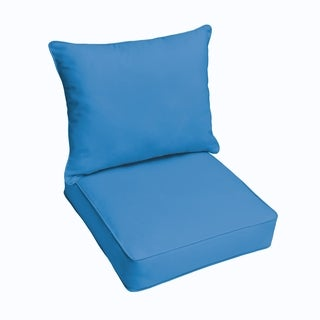 Sunbrella Canvas Capri 2-piece Cushion and Pillow Indoor/Outdoor Set