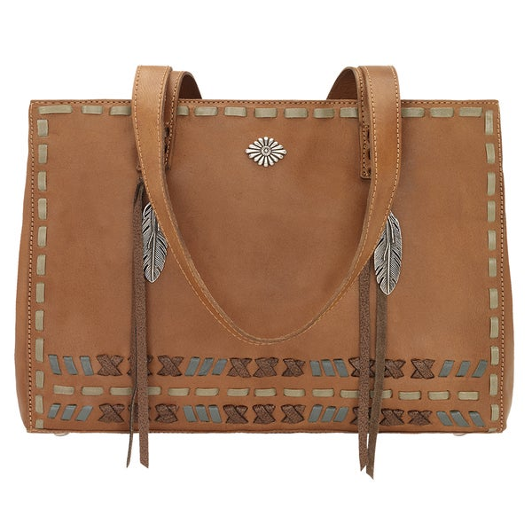 Mohican Melody Tan Leather Shopper Tote