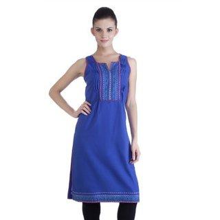 Meena Bindra Women's Dyed Handloom Kurta