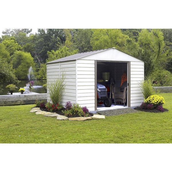 Arrow Milford Vinyl Coated Steel Shed (10' x 12')