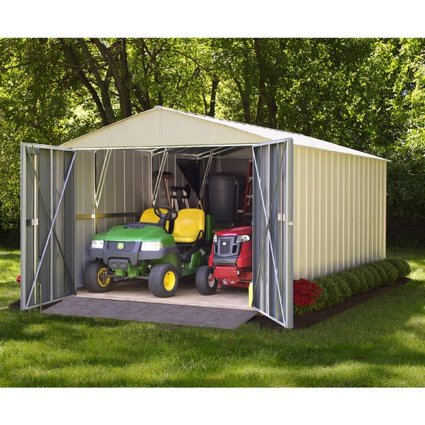 Arrow Commander Hot Dipped Galvanized Steel Shed Utility Building (10' x 10')