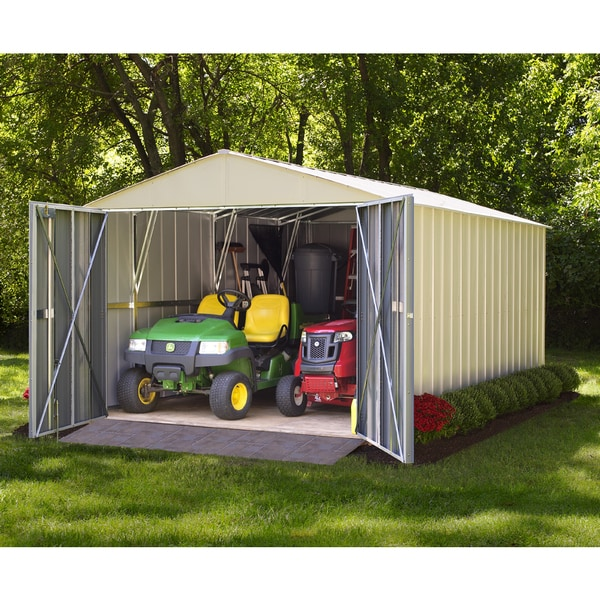 Arrow Commander Hot Dipped Galvanized Steel Shed Utility Building (10' x 30')