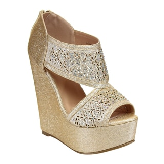 I HEART COLLECTION Platform Wedge Sandals