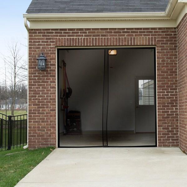 Pure Garden One Car Garage Screen Curtain-Black (114 inches x 90 inches)