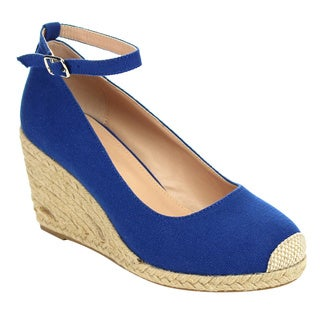 I HEART COLLECTION JULIA-01 Women's Espadrilles Wedge Pumps