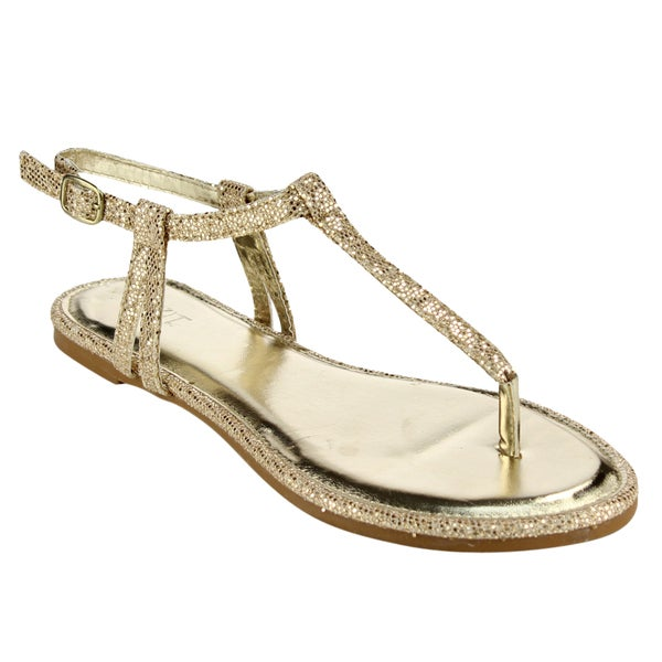 Mixit T-strap Glitter Thong Sandals