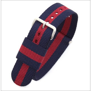 Daniel Wellington Men's Nylon Oxford 0401DW Blue and Red Replacement Watch Strap