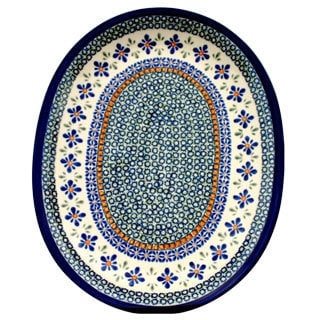 Large Ceramic Oval Serving Platter (Poland)