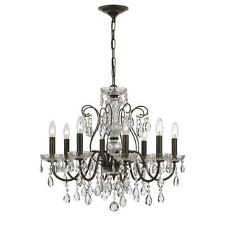Traditional 8-light English Bronze Chandelier