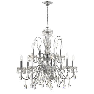 Maria Theresa Two Light Polished Chrome Chandelier Six Overstock Com Shopping Great