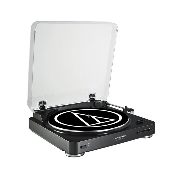 Audio Technica AT-LP60 Fully Automatic Belt Driven Turntable (Black)