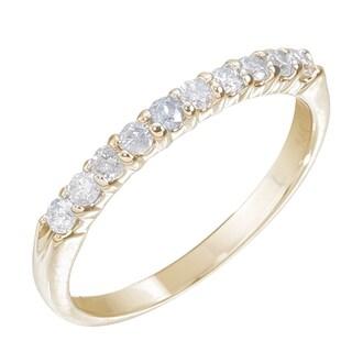 14k Yellow Gold 1/4ct TDW Diamond Wedding Band (H-I, I1-I2)