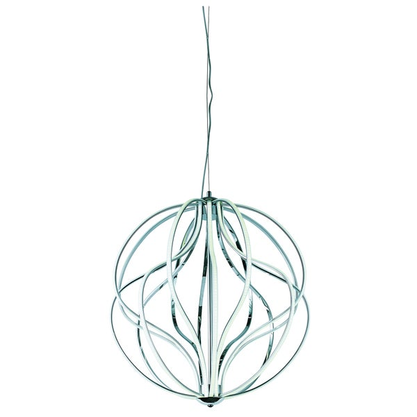 Aura 16-light LED Polished Chrome Single Pendant Light