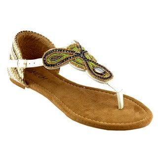 MI.IM Ankle Wraped Flat Sandals