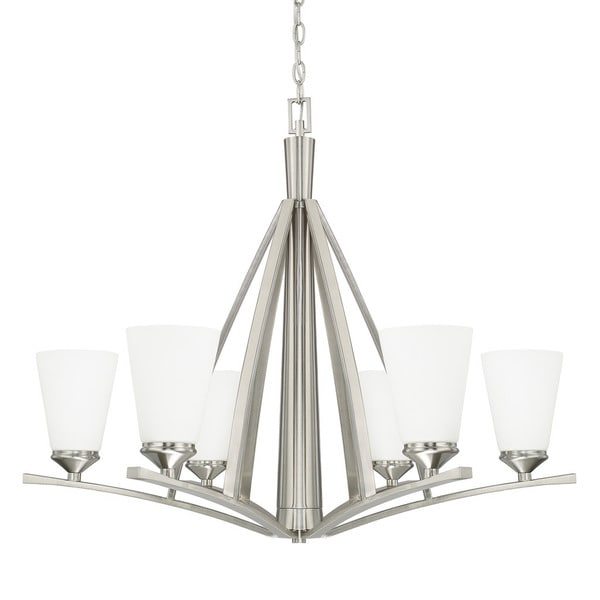 Capital Lighting Boden Collection 6-light Brushed Nickel Chandelier