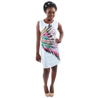 Hadari Women's Color Pop Sleeveless Shift Fashion Dress