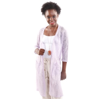 Hadari Women's Open Front 3/4 Sleeve Knit Cardigan (One Size)