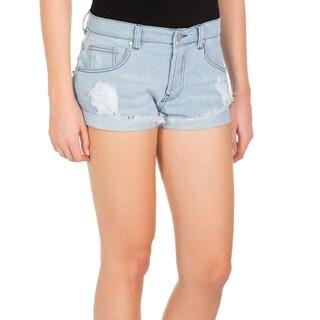 Minkpink Keepsake Denim Frayed Shorts