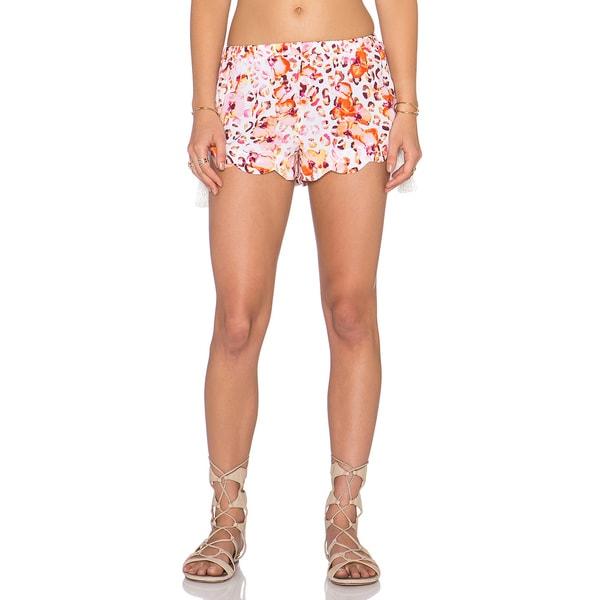 Minkpink Sea Animal Pink Floral Tassel Shorts
