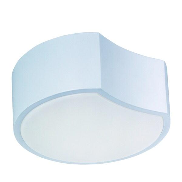 Cells LED Matte White Flush Mount Light