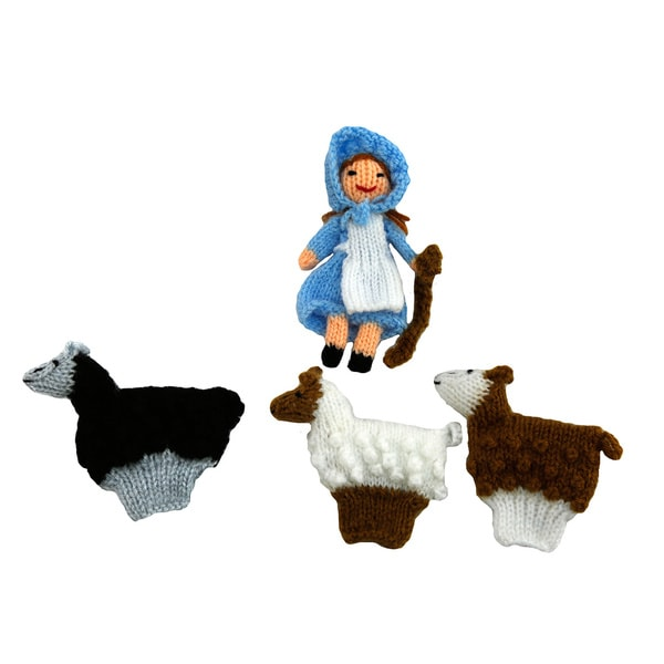 Little Bo Peep 4-piece Finger Puppet Set (Peru)