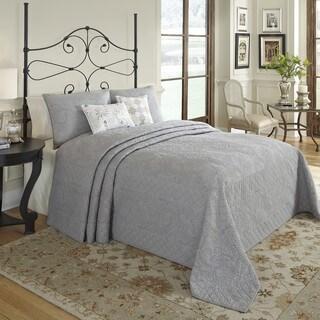 Nostalgia Home Valinda Grey Reversible Bedspread