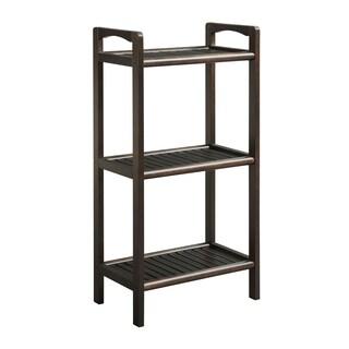 Somette Abingdon Espresso Solid Birch Wood 3-shelf Tower