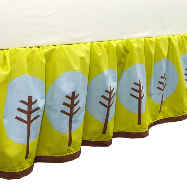 True Baby Tree Tops Bed Ruffle in Tree print