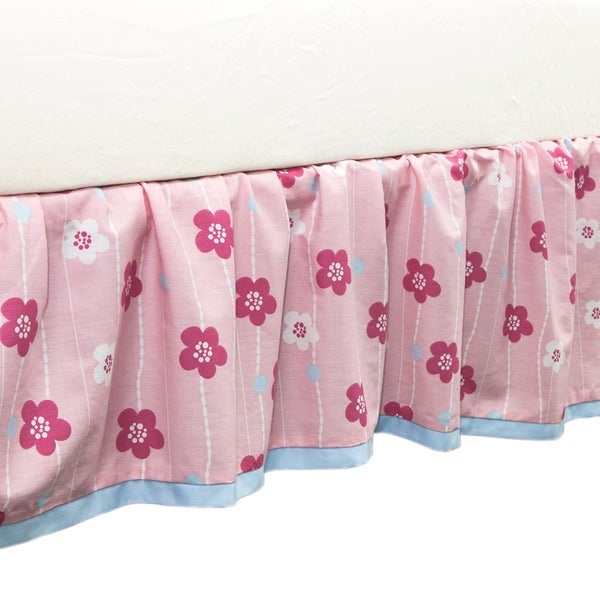 True Baby Sweet Tweet Bed Ruffle Floral