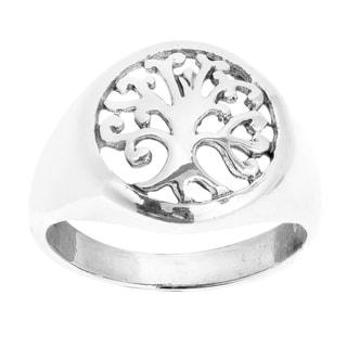 Handmade Sweet Swirls 'Tree of Life' .925 Sterling Silver Ring (Thailand)