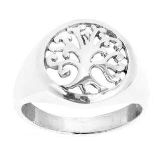 Sweet Swirls 'Tree of Life' .925 Sterling Silver Ring (Thailand)