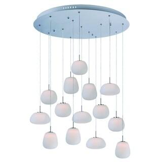 Puffs 14-light LED White Pendant Light