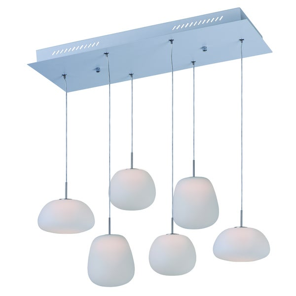 Puffs 1-light LED White Pendant Light