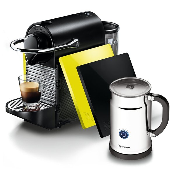 Nespresso A+C60-US-BY-NE Espresso Maker Pixie Clip Black/ Lemon Bundlemon Bundle