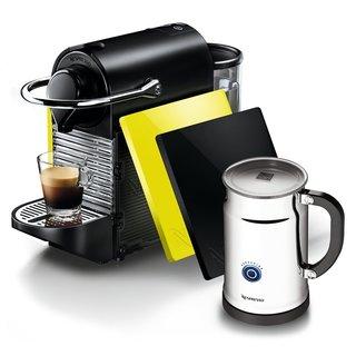 Nespresso A+C60-US-BY-NE Espresso Maker Pixie Clip Black/ Lemon Bundlemon Bundle