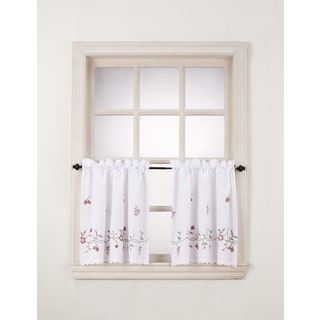 No. 918 Charlene Rod Pocket Window Tier (Pair)