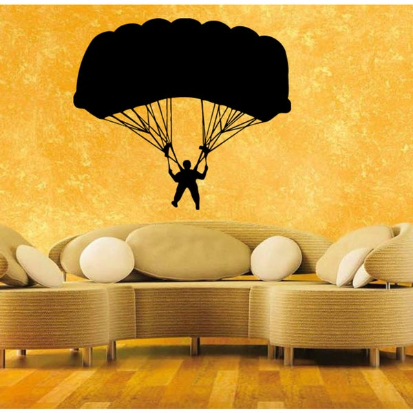 Parachute jump Wall Art Sticker Decal