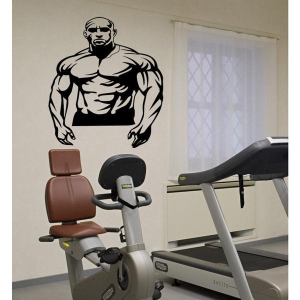 Athlete muscles Wall Art Sticker Decal
