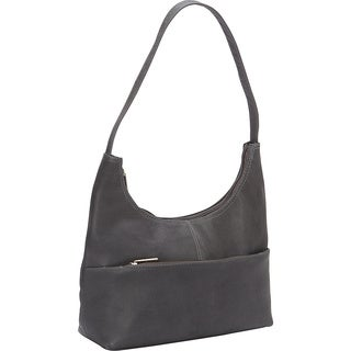 LeDonne Leather Top Zip Hobo Handbag