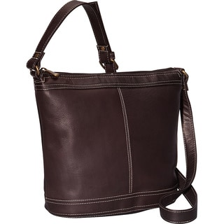 LeDonne Leather Ti Bucket Hobo Handbag