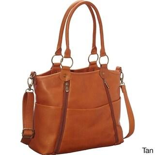 LeDonne Leather Nevington Convertible Satchel Handbag